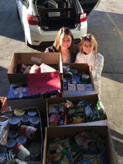 Lindsay Kenney Donation Christmas Bureau 2015